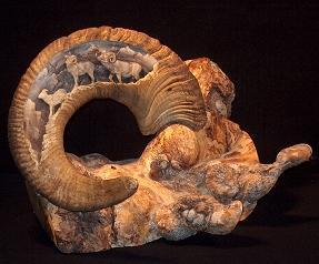 Ram Horn Carving