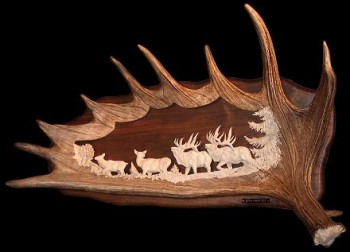 Elk Antler Carving Art