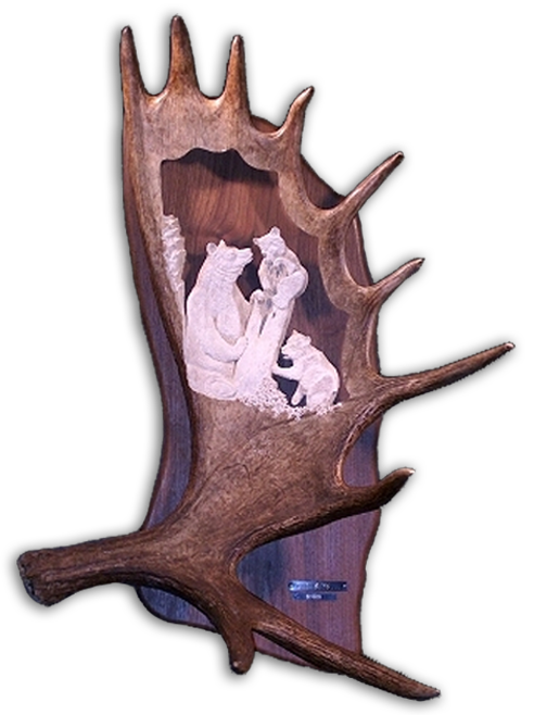 Monte baker antler carvings deer moose elk art